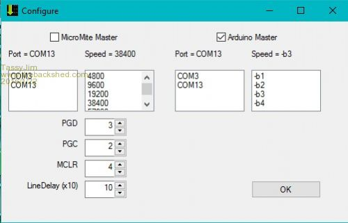 how to set baud rate of com port